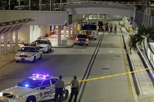 Miami Airport Bomb Scare
