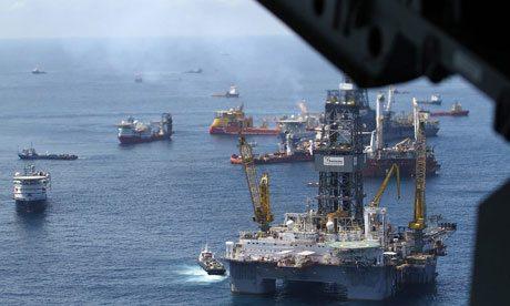 BP Gulf Oil Wells