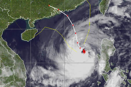 typhoon megi china