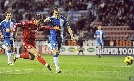 Liverpool vs Wigan Draw Steven Gerrard