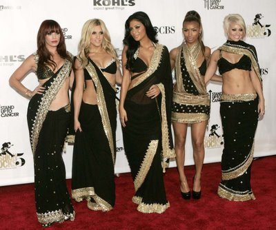 Pussycat Dolls in saree -indian fashion