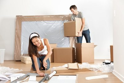Couple moving in new home house