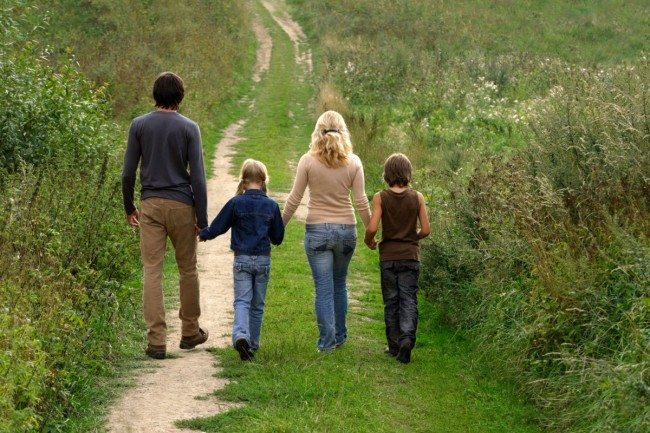 family-walking