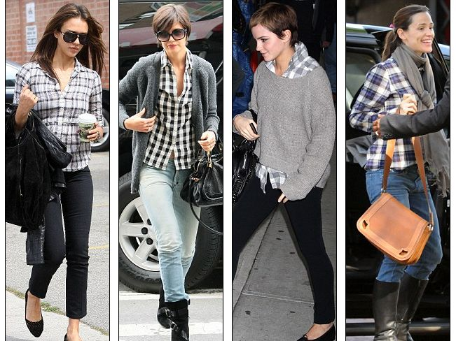 Celebrity Fashion Plaid