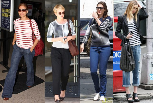 Celebrity Fashion Stripes