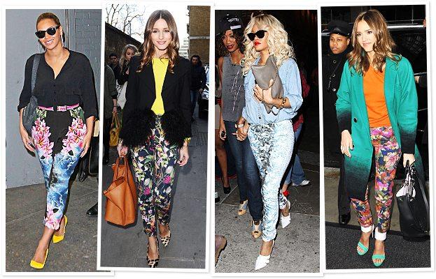 Celebrity Floral Fashion