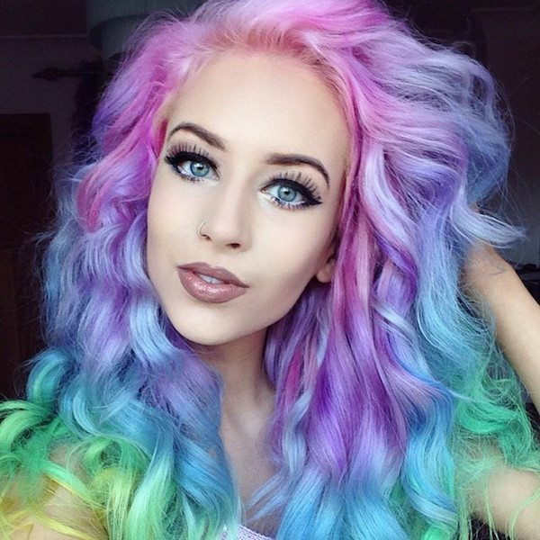 Pastel Hair Colours