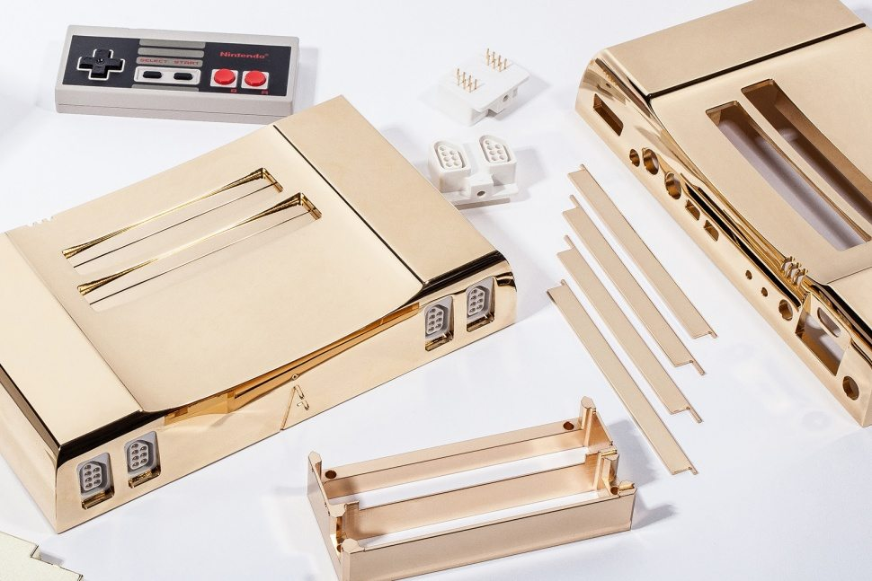 24k gold plated nintendo