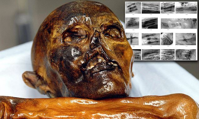 Otzi The Iceman - The first recorded person with tattoos