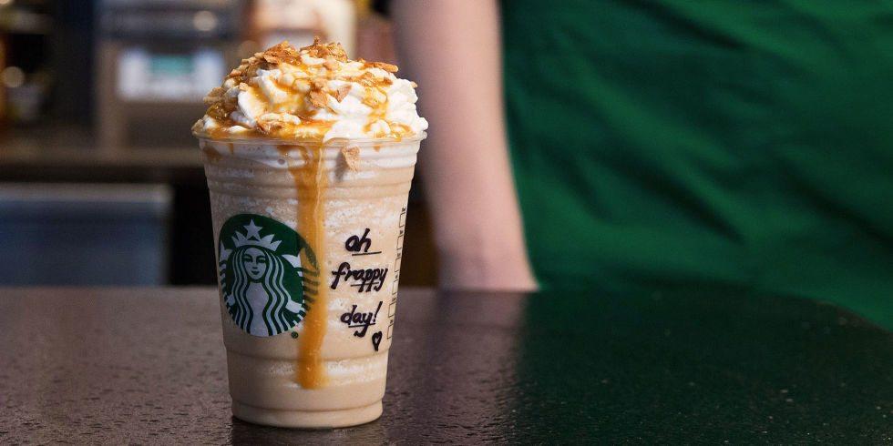 Starbucks Caramel Waffle cone Frappuchino