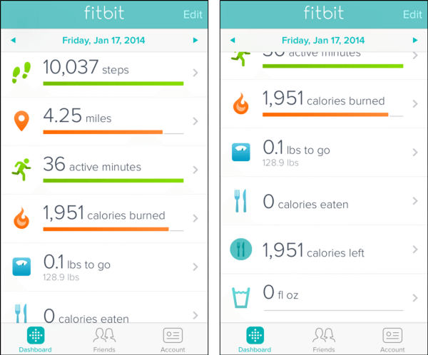 the fitbit app allows you to track daily activities