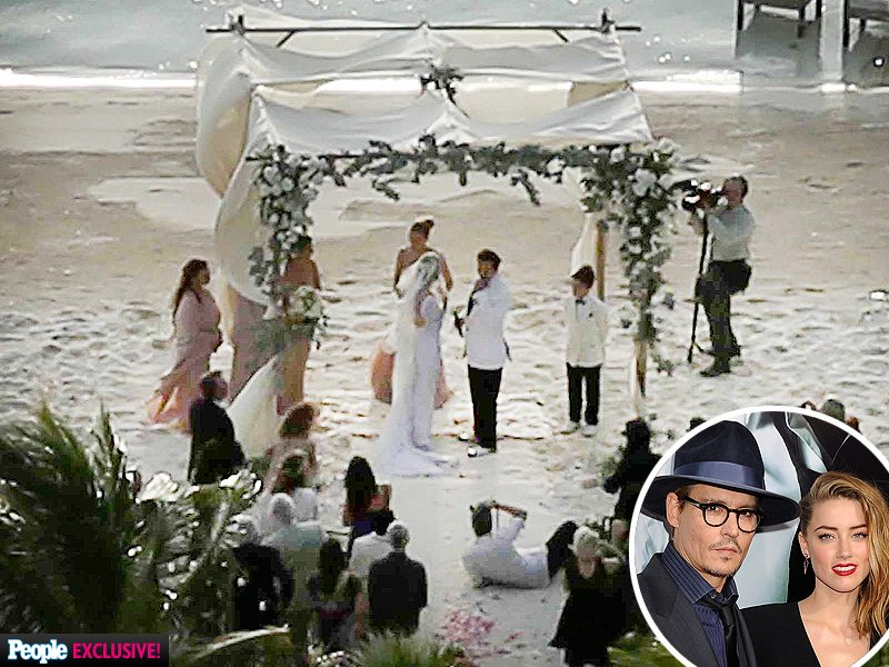 Johnny Depp and Amber Heard Wedding