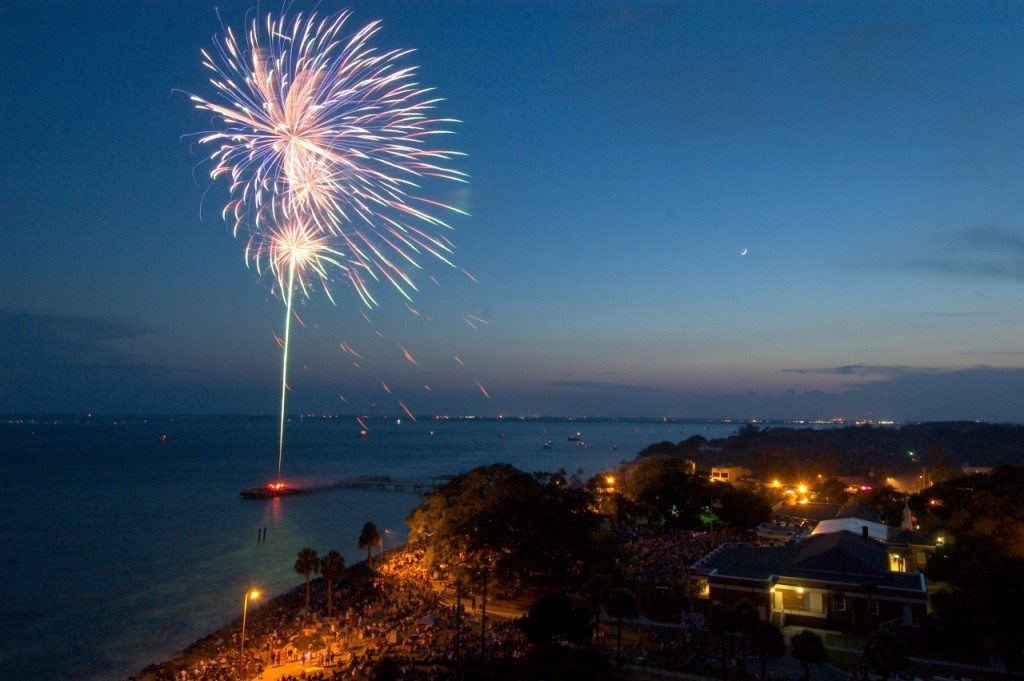 Fourth of July in the Pier Village. St. Simons Island, GA.