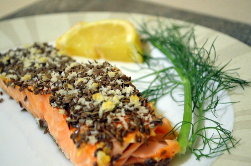 Flaxseed and Salmon are very rich in Omega-3 fatty acids.