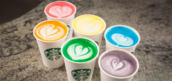 Starbucks Rainbow Drinks Secret Menu