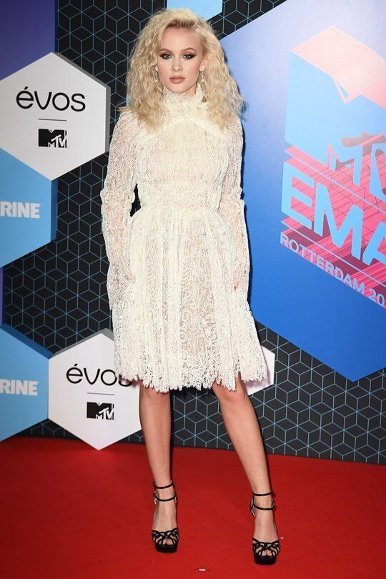Zara Larsson in Rotterdam at the 2016 MTV EMAs
