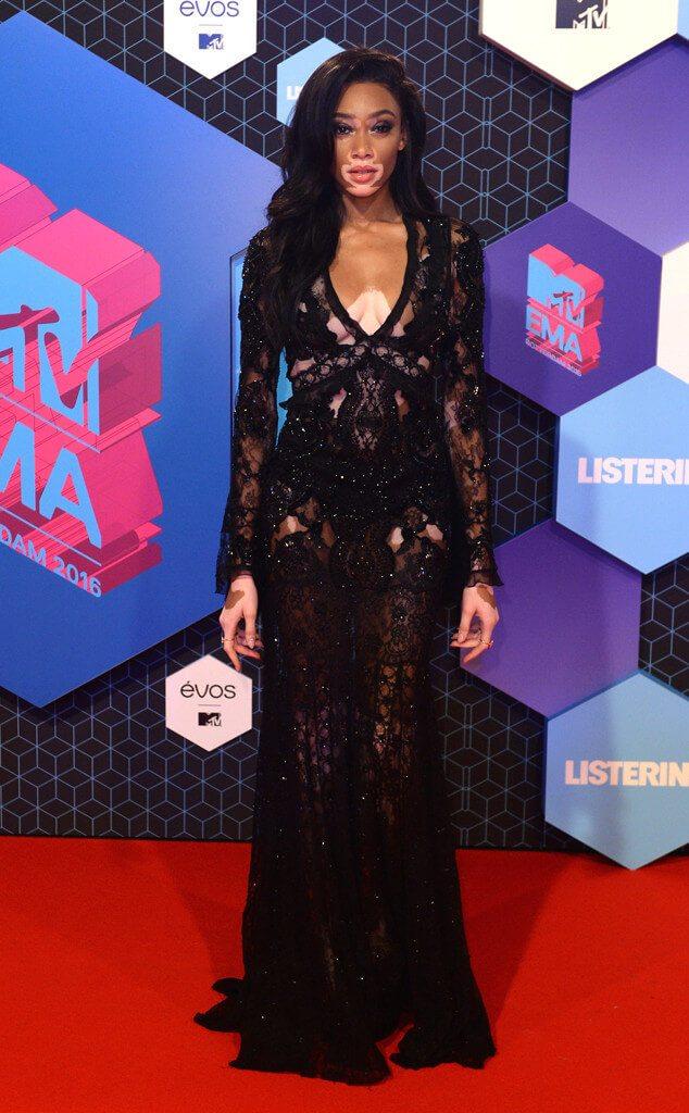 Winnie Harlow at the MTV EMAs 2016