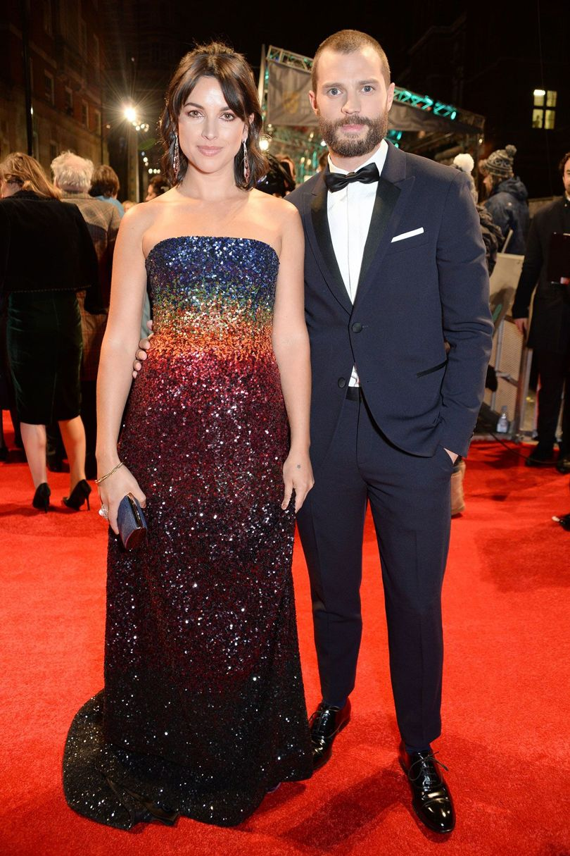 amelia-warner-jamie-dornan-baftas-2017-red-carpet