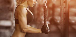 Fitness gym lady