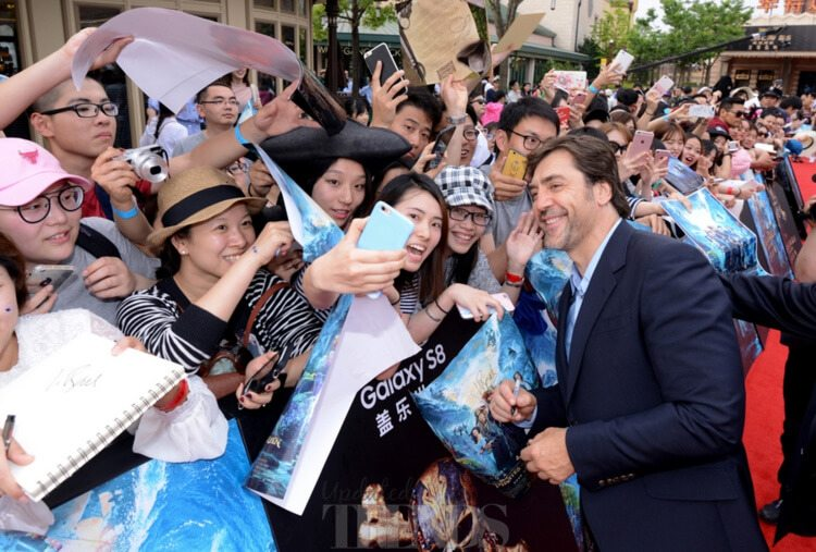 Javier Bardem Pirates Of The Caribbean: Dead Men Tell No Tales premiere Disneyland Shanghai