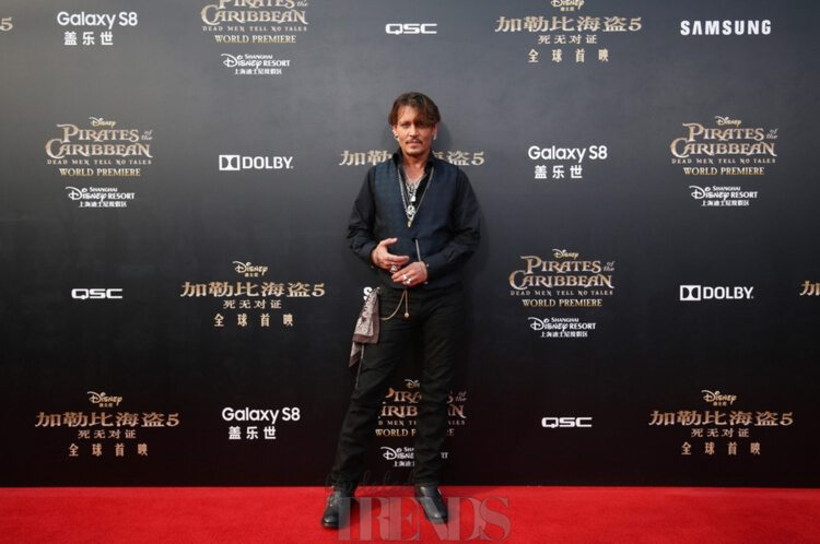 Johnny Depp Pirates Of The Caribbean: Dead Men Tell No Tales premiere Disneyland Shanghai