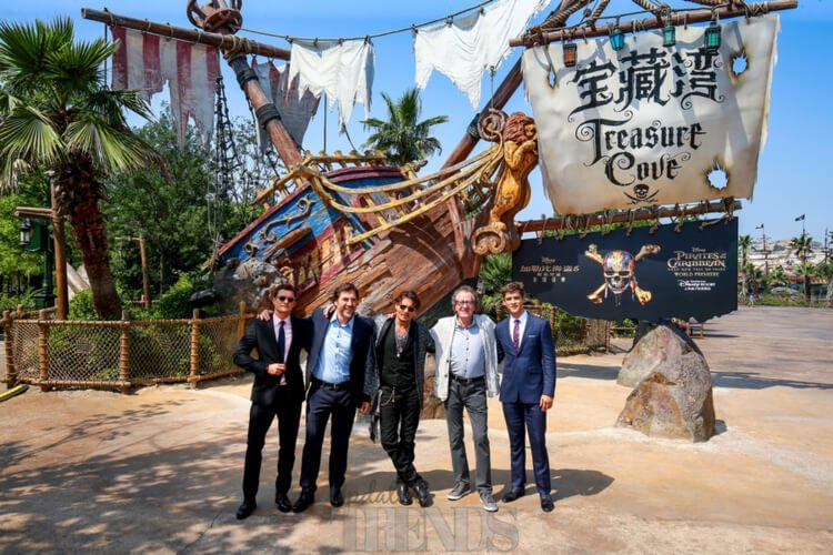 Pirates Of The Caribbean: Dead Men Tell No Tales premiere Disneyland Shangai