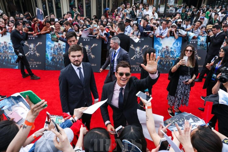 Orlando Bloom Pirates Of The Caribbean: Dead Men Tell No Tales premiere Disneyland Shanghai