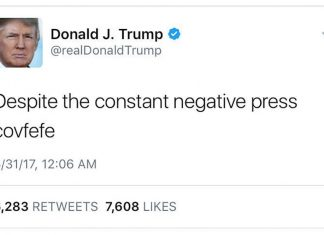 President Trump Tweet Covfefe