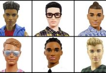 New looks of Barbie's Ken by Mattel