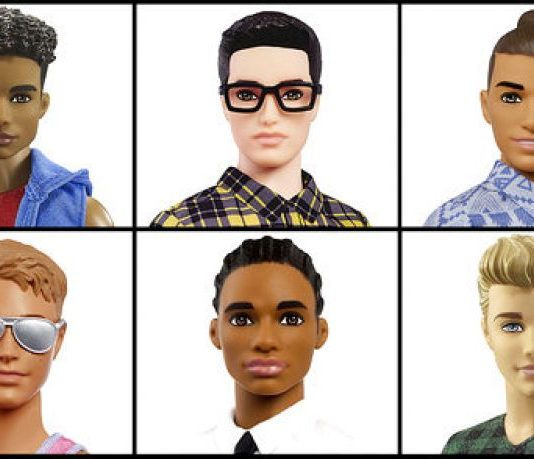New looks of Barbie's Ken by Mattel