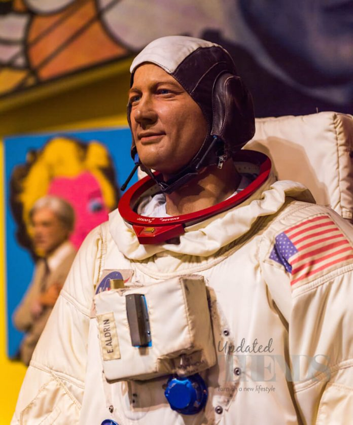 Wax Statue of Astronaut Neil Armstrong from Madame Tussauds Museum