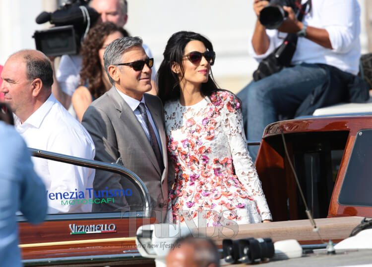 Amal and George Clooney were the subject of paparazzi scrutiny during their wedding in Venice