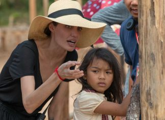 Angelina Jolie and Sareum Srey Moch