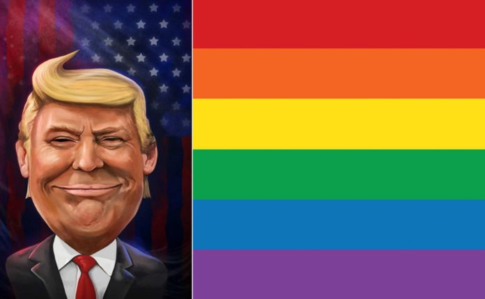 Donald Trump LGBTQ Flag