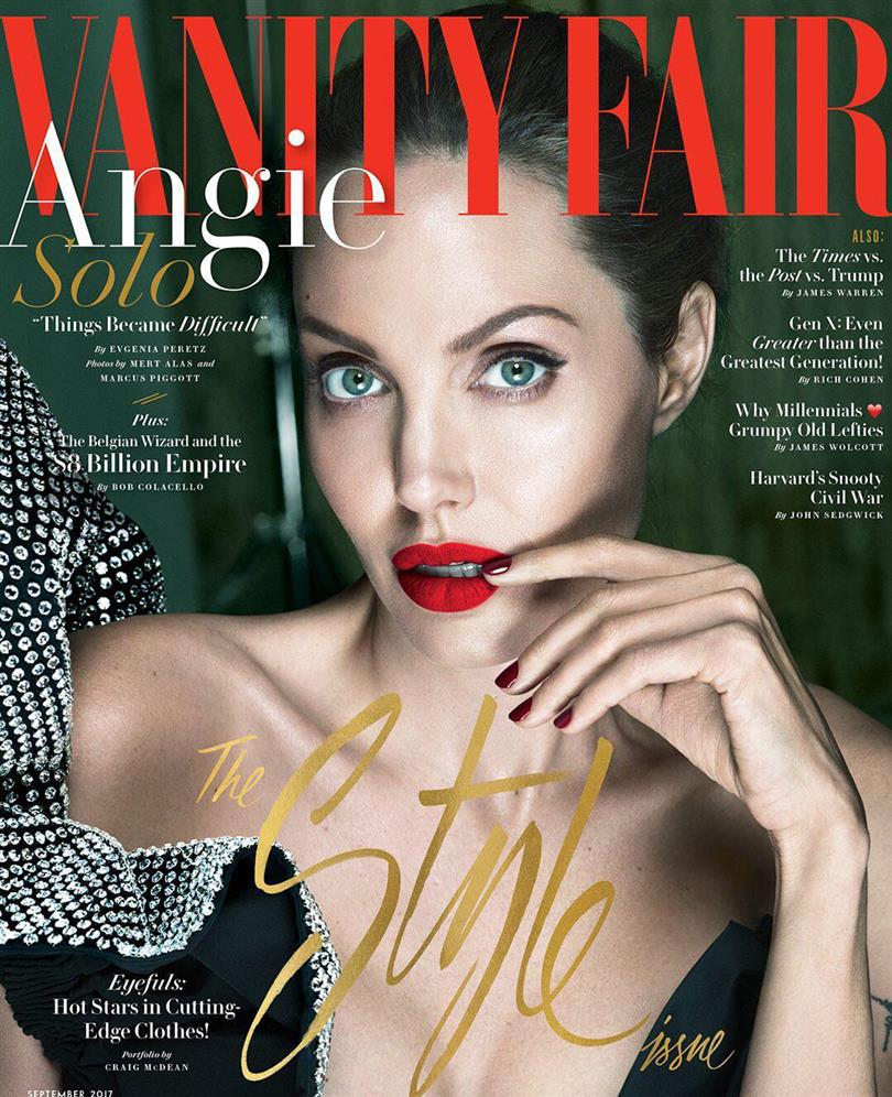 Angelina Jolie on the September cover of Vanity Fair