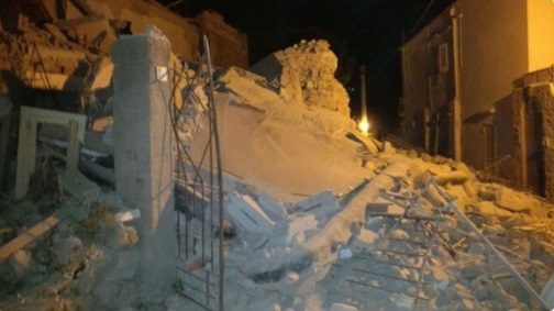 Earthquake in Ischia, Italy