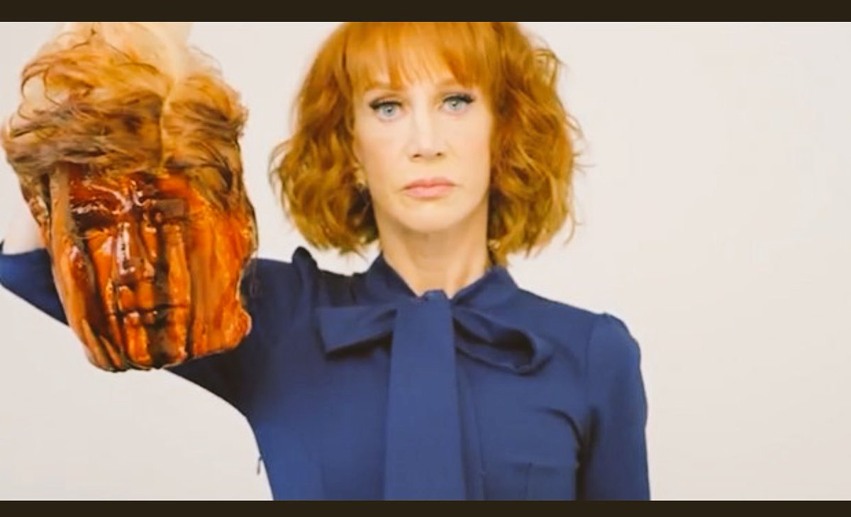 The controversial image of Kathy Griffin holding what appeared to be the decapitated head of US President Donald Trump