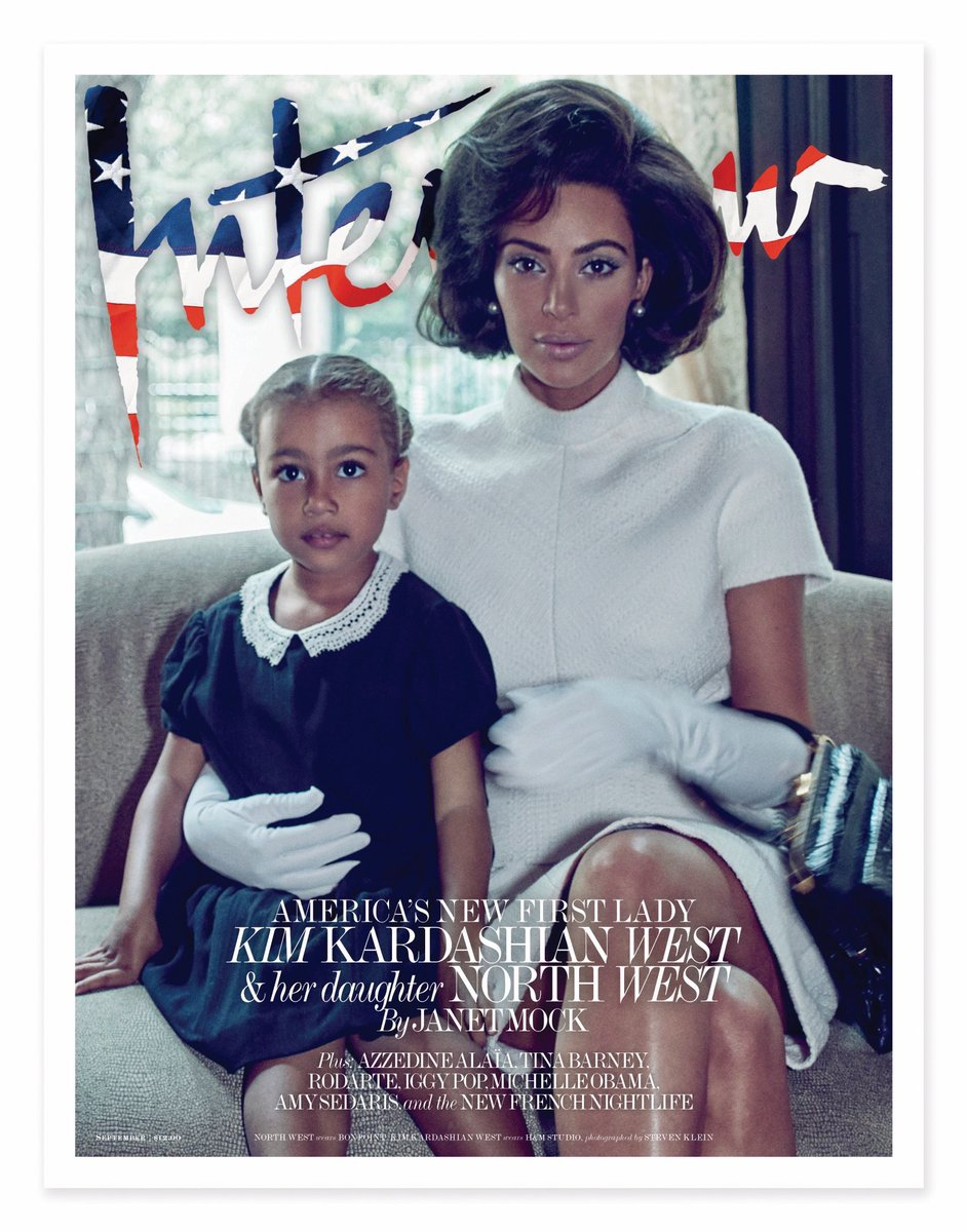 Kim Kardashian and North West on the cover of Interview magazine