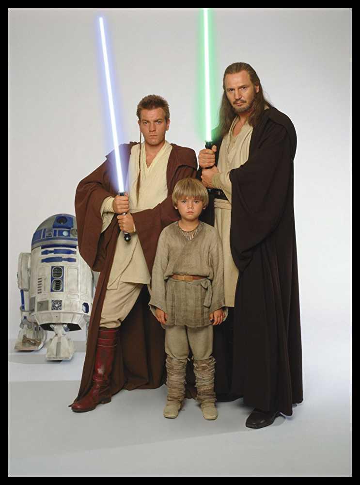 R2D2, Obi-Wan Kenobi, Anakin Skywalker and Qui-Gon Jinn
