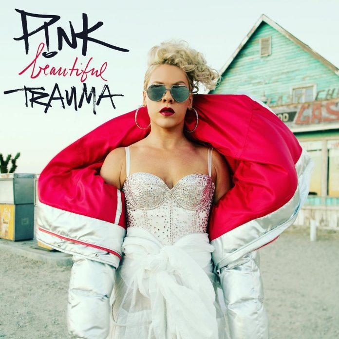 Pink Album Beautiful Trauma cover art