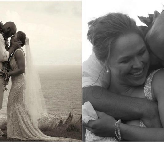 Ronda Rousey and Travis Browne wedding