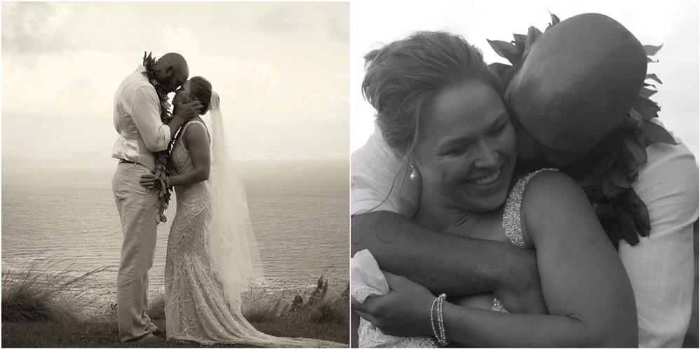 Ronda Rousey Marries Travis Browne During Mayweather Vs
