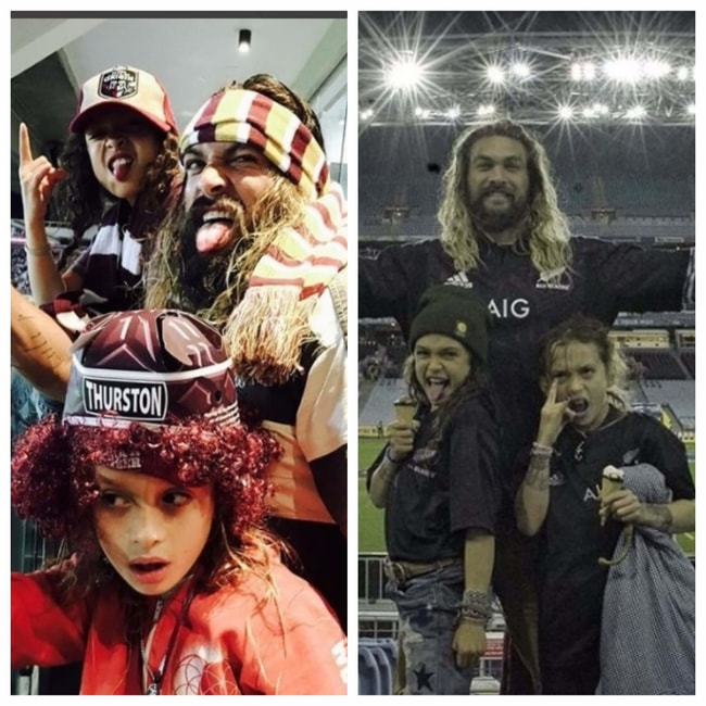 Jason Momoa Takes A Stroll With His Kids: Images Of Jason Momoas Father