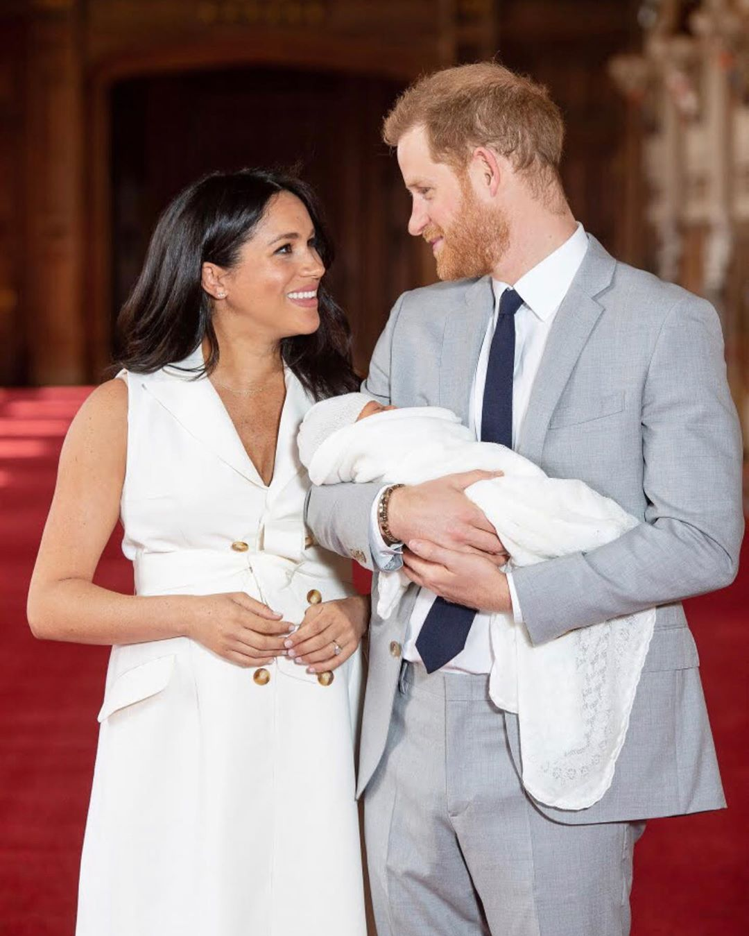 Prince Harry And Meghan Markle Introduce Baby Sussex Archie