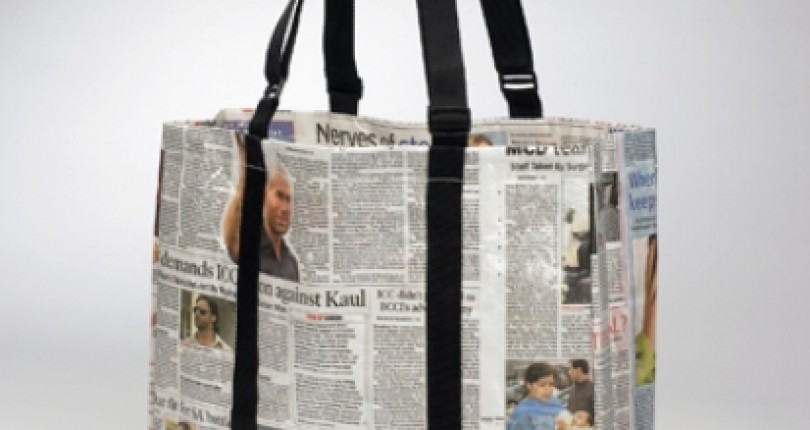 Recycle old newspaper in creative ways